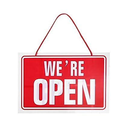 Cartel restaurante Negocios abierto cerrado Inglés plástico ...