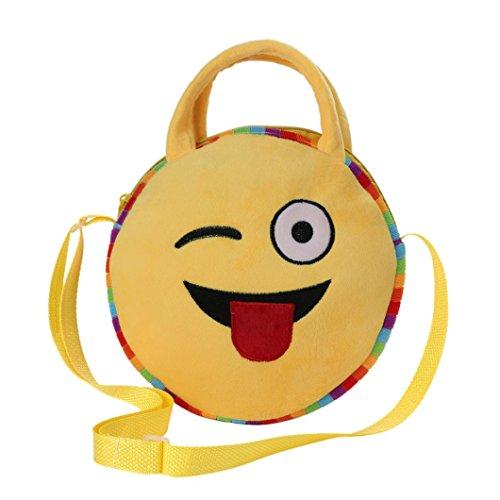 Cute School Bag Emoji Emoticon Handbag Child Shoulder Bags Backpack Satchel Rucksack (Back To School Stuff)