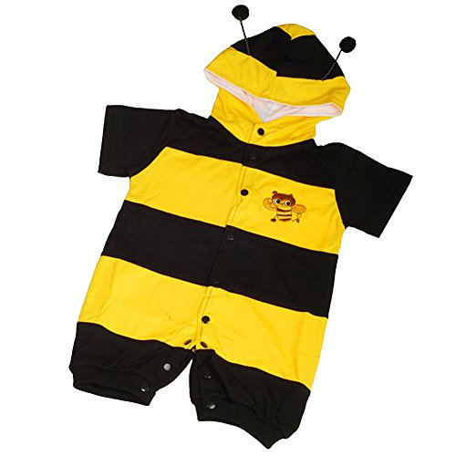 Dressy Daisy Baby Boys' Bee Baby Animals Halloween Fancy Party Costume Jumpsuit Size 3-6 Months ()