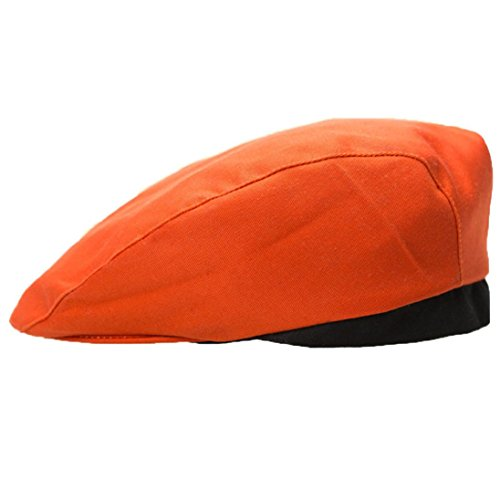 Baigoods Stylish Men Women Chef Hat Catering Baker Kitchen Cook Duckbill Beret Golf Hotel Work Uniform Cap Caps (Orange) (Womens Cap Cook)