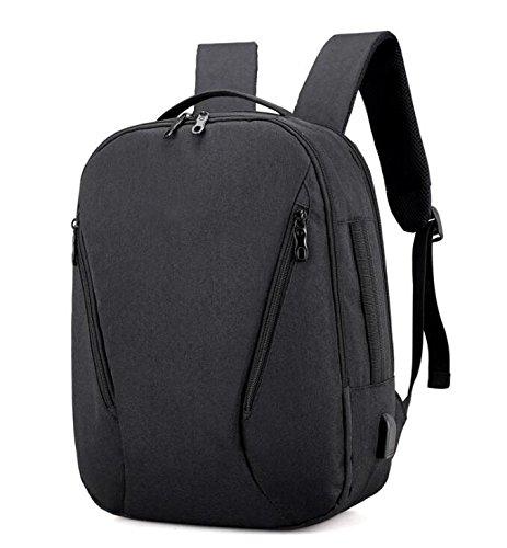 ZHANGOR USB Reiserucksack, Oxford Breathable Rucksack Business Computer Tasche Schultertasche, Schule/Arbeit (Lady/Männer) Black
