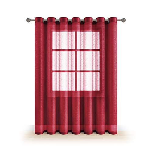 Grommet Semi Sheer Luxury 1 Double Wide Curtain Panel Window Home Decor and Upscale Design Light Penetrating Provide Privacy Soft Durable Polyester Easy Maintenance (Panoramic 104