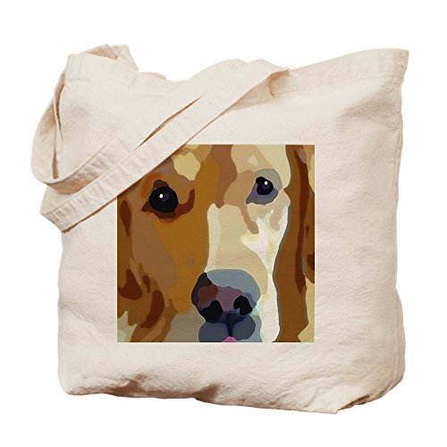 CafePress - Golden Retriever - Natural Canvas Tote Bag, Cloth Shopping Bag ()