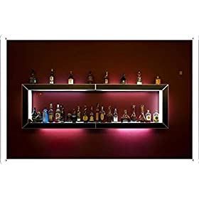 Bar Alcohol Shelf Drinks Bottles 5752 Tin Poster by Food & Beverage Decor Sign