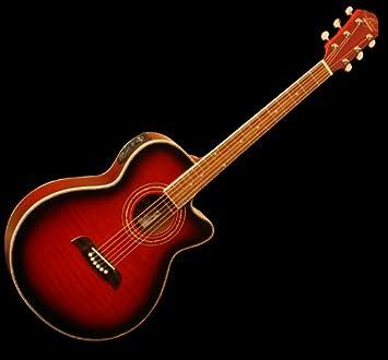 Nueva Oscar Schmidt concierto Cutaway og10ceftr acústica guitarra eléctrica: Amazon.es: Instrumentos musicales