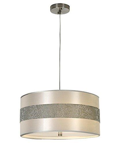 Trend Lighting BP9709 Harmony Pendant, Metallic Silver Finish - Style Tiffany Pave