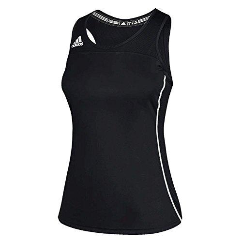 adidas Womens Climacool Utility Compression Tank L Black/White ()