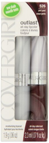 COVERGIRL Outlast All Day Two-Step Lipcolor Port Pout 526, 0.13 Oz, 0.130-Fluid Ounce