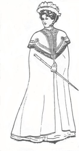 1900 Costumes (1900 Ladies Cloak Pattern)