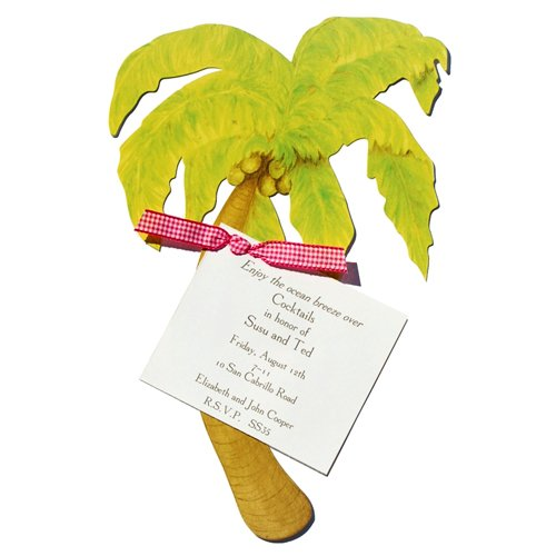 Palm Tree Die-cut Card, Pack of 10