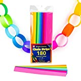 "Mighty Bright Paper Chain Strips 1""X8"" 180/Pkg-Assorted Colors"