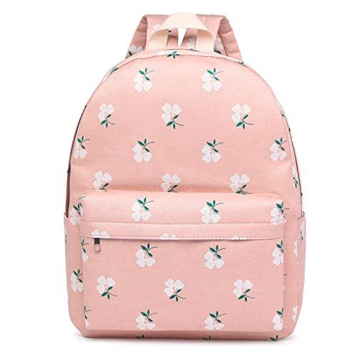 Estudiantes Diseño de 48 Lona 41CM Bird 32 Pink Rojo 07 Flores X 15 X Lona 13 Mochila para Dabixx Color X X Flower Estampada 99 5 de 12 HyqwYW5X