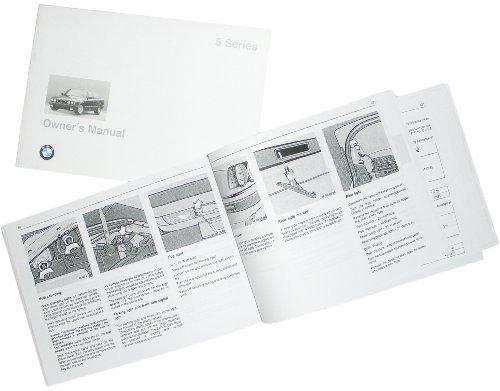 BMW Genuine Owner's Handbook/Manual E34 5 Series US (from 03/1994 to 08/1996) ()