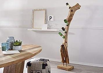 MASSIVMOEBEL24.DE Weinständer Teak Wurzel 170cm Natur unbehandelt ...