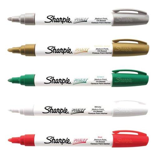Christmas Paint - Sharpie Medium Point Oil Based Christmas Paint Marker 5 Pack Kit