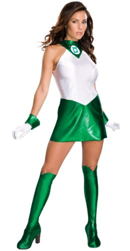 Secret Wishes Women's Green Lantern Adult Super Heroine Costume, Green/White, Medium -