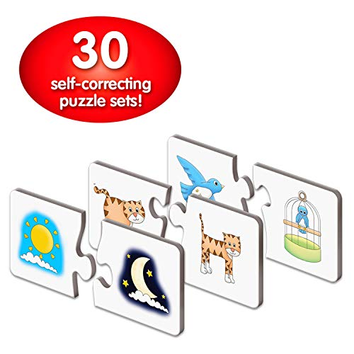 The Learning Journey: Match It! - Opposites - Self-Correcting Puzzle Set