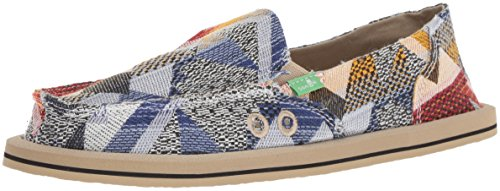 Sanuk Women's Donna Geo Patch Loafer Flat, Blue/Multi, 07 M US (Donna Womens Shoes)