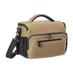 Best Epic Trends 41YQNynhP8L._SS300_ Amazon Basics Vintage Camera Messenger Bag- Vintage Wax Canvas - Brown
