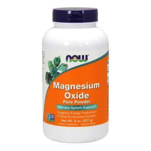 Now Magnesium Oxide Powder, 8-Ounce (Pack of 2) - Magnesium Oxide Powder