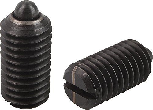 3//8-16 Thread Pin Style Slotted Kipp 03020-1A4 Steel Spring Plungers Light End Pressure Inch Pack of 25