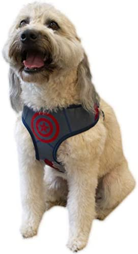 Marvel Comics Captain America Dog Harness Small | Best Avengers Infinity War Harness For All Small Dogs
