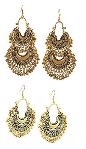 bbea54c56 Tiaraz Fashion Stylish Oxidised Afghani Tribal Fancy Party Wear Earrings  for Girls and Women ...