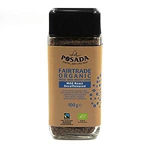 La Posada Mild Roast Decaf, Caffè solubile 100% Arabica, decaffeinato, confezione da 3 x 100 g