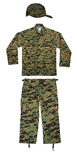 Kids Woodland Digital Camo Marines Soldier Junior G.I. Uniform -