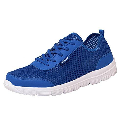 Bleu Mesh Casual Respirant Chaussures Mode Sport Homme Chaussure Femme de Pour Gym Sneakers de Fitness Yuxin Sports Course 08qTx