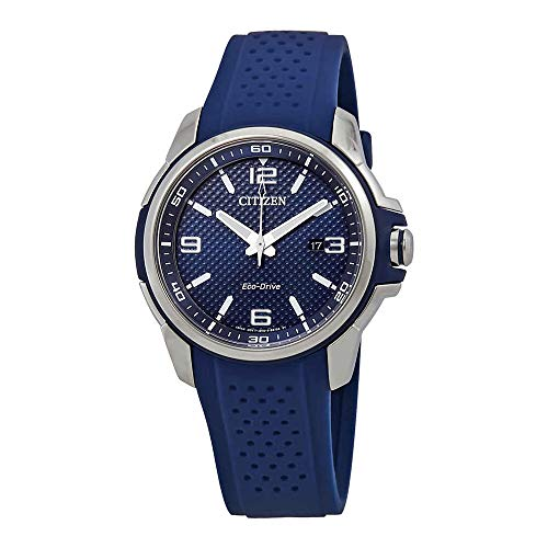 Citizen AR Blue Dial Silicone Strap Men's Watch AW1158-05L ()