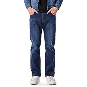 OCHENTA Mens Stretch Breathable Casual Jeans Pants