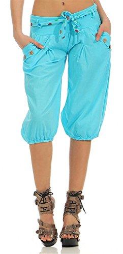 Pantaloni Estivi Donna Eleganti Moda Pantaloni Spiaggia Cintura Inclusa Con Tasche Zweireihig Casuale Donne Vita Elastica Nahen Taille Sottile Tempo Libero Pantaloni Grazioso Accogliente Colour-004