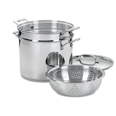 Cuisinart Chef's Classic 12 Quart Pasta/Steamer Set 4pc, Stainless Steel