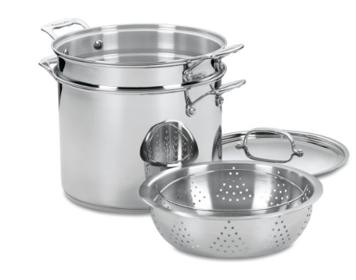 Cuisinart 77-412 Chef's Classic Stainless 4-Piece 12-Quart Pasta/Steamer Set ()