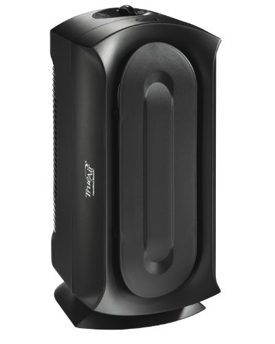 Hamilton Beach TrueAir, Ultra Quiet Allergen Reducing Air Purifier with Permanant HEPA Filter, Black (Purifier Air Tower Idylis)