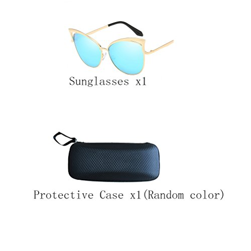 Zhhaijq Mirror Protection Men's des lunettes de soleil frame Sunglasses UV400 Women's Blue Gold 6Sqx64O