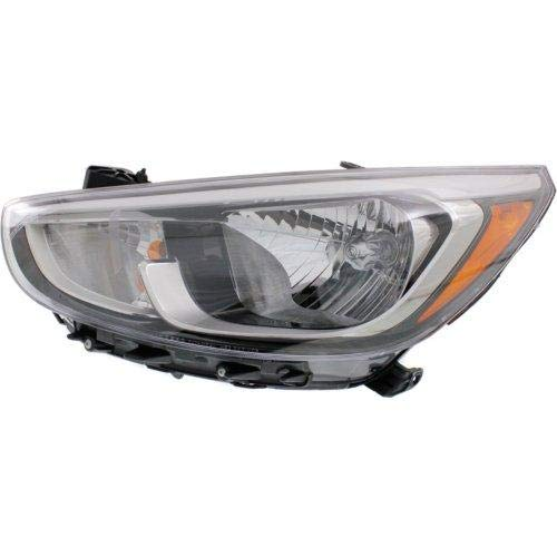 (Go-Parts OE Replacement for 2015-2016 Hyundai Accent Headlight Headlamp Assembly Front - Left (Driver) 92101-1R710 HY2502192)