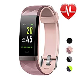 LETSCOM Fitness Tracker HR Color Screen, Heart Rate Monitor,...