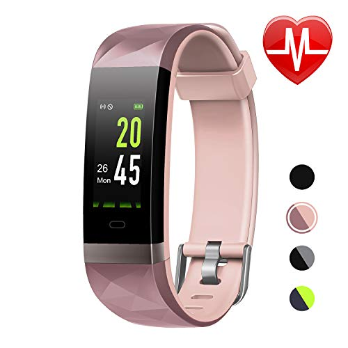 ker HR Color Screen, Heart Rate Monitor, IP68 Waterproof Smart Watch with Step Counter Sleep Monitor, Pedometer Watch for Men Women Kids ()