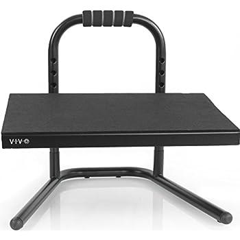 VIVO Black Ergonomic Height Adjustable Standing Foot Rest Relief Platform for Standing Desk (STAND-FT01)