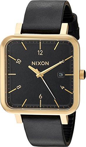 Nixon Men's 'Ragnar 36' Quartz Stainless Steel and Leather Watch, Color:Black (Model: A985513)