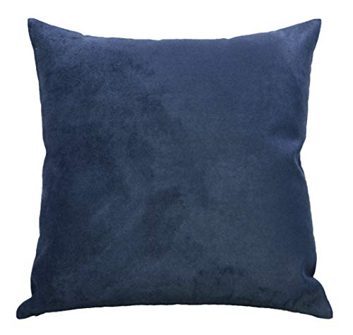 Aiking Home Collection Creative Luxury Faux Suede Pillow Cover/Euro Sham - 26 By 26 Navy
