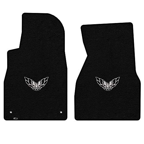Logo Black Car Mat - Lloyd Mats LogoMat Custom Floor Mats - Pontiac Firebird & Trans Am 1993-2002 2Pc Front Set Carpeted Custom Fit Mats, Black - Fits Model Years 1993 1994 1995 1996 1997 1998 1999 2000 2001 2002