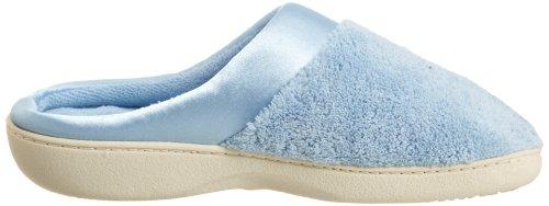 Pantofole Isotoner Microterry Pistowstep In Raso Con Pistoni Zoccoli Bonney Blu