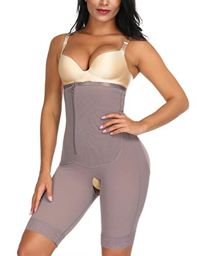 FEDNON Women's Open Bust Tummy Control Shapewear with Adjustable Straps