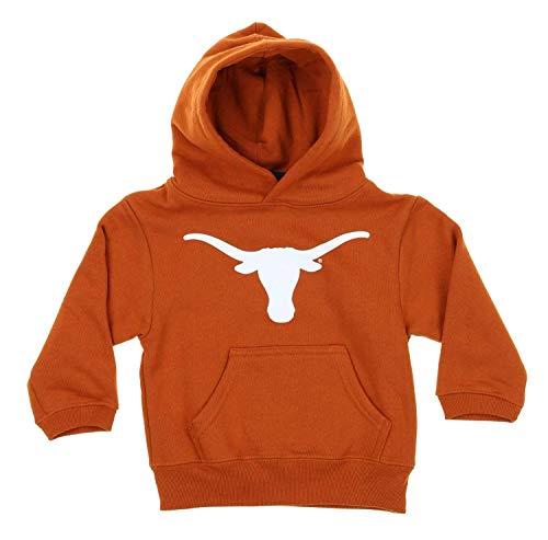 Outerstuff NCAA Toddler's (2T-4T) and Kids (4-7) Texas Longhorns Fleece Team Hoodie, Orange (Texas Longhorns, Medium (5-6))