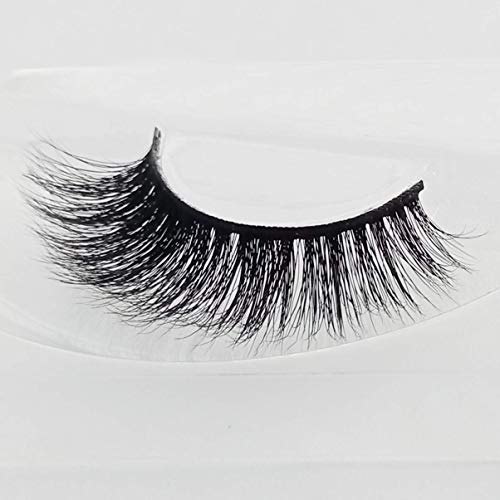 3D Faux Mink Eyelashes Extensions Natural Long Fake Lashes With Volume for Women's Make Up Soft False Eyelash,1Pair
