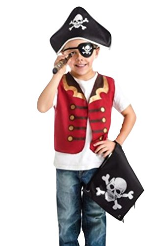 Captain Cutie Girls Pirate Costumes (LC Boutique Unisex Child Pirate Captain Jack Pretend Play Costume Gift Set)