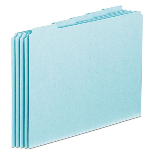 Pendaflex PN205 Top Tab File Guides, Blank, 1/5 Tab, 25 Point Pressboard, Letter, 100/Box